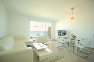 undoubtedly the living room together with terrace because of its location are the most notable areas of the apartment.