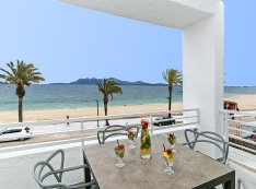 view from the terrace of Puerto Pollensa beach